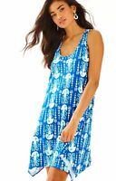 Lilly Pulitzer - Melle Dress Trapeze Tank - Indigo Get In Line - Large