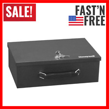 Fireproof Security Box Fire Safe Chest Key Lock Cash Storage Case Money Document