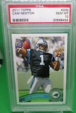 2011 TOPPS CAM NEWTON #200 STANDS IN BACKGROUND ROOKIE CARD PSA 10 GEM MINT