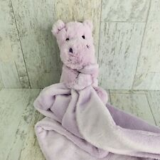 Jellycat Bashful Hippo Soother Purple Security Blanket Lovey Soft