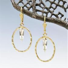 La Vie Parisienne Catherine Popesco Small Textured Oval Hoop Earrings Crystal