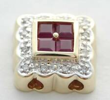 SLIDE DIAMOND RUBY SLIDER CHARM 14K KLEIN REDUCED