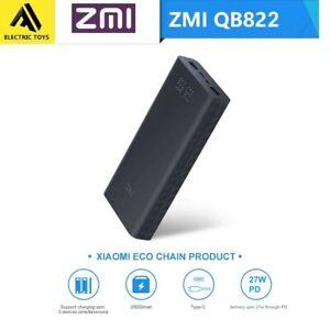Xiaomi ZMI 20000mAh Power Bank USB-C PD 27Ah QC 3.0 Dual Battery charger