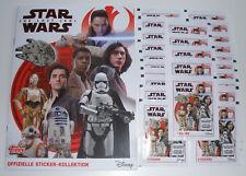 TOPPS Star Wars Sticker 2017 gli ultimi cavalieri Jedi-album vuoto + 25 cartocci NUOVO