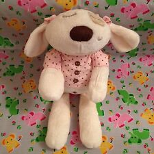 "Mamas & Papas 13"" Sleepy Heads Soft Crema Cucciolo Top Rosa Piumone ABBRACCIO giocattolo"