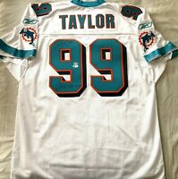 Jason Taylor autographed signed Dolphins Reebok jersey inscribed 2006 DPOY (BAS)