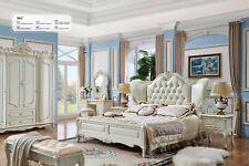 Royal Design Classic Rococo Antique Style Bedroom Bed Wardrobe Set 981