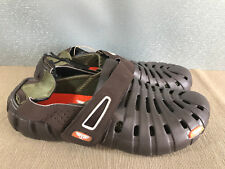 BNWT Mens Sz 9 Brown Rivers Brand Filled in back Clog Style Sandals Shoes