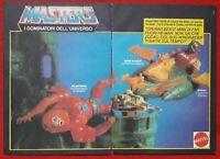 2 Pubblicità Masters of The Universe Mattel Topolino beast man motu vintage