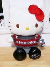 "Hello Kitty Plush Doll Big 15"" Seasonal Christmas plush 2012 NEW with tag"