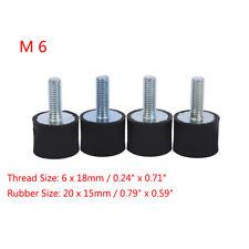 4x Car Boat M6 6mm Rubber Shock Anti Vibration Isolator Mounts Bobbin 20x 15mm