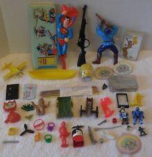 MARX/LEGO/TIMMEE/MEGABLOKS 1960s TO NOW 44 Figure/Item Lot SUPERMAN BRUSH/HALO