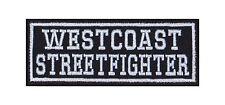 Westcoast Streetfighter Biker Patches Aufnäher Rocker Bügelbild Kutte Motorcycle