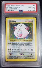 Pokemon PSA 8 Shadowless Chansey Holo! Base Set! 3/102 NM - Mint 1999 WOTC