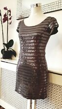 River Island Grey Sequinned Tron Stretchy Dress Size 10