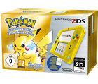 Nintendo 2DS Special Edition Pikachu Pokemon Transparent Yellow PAL