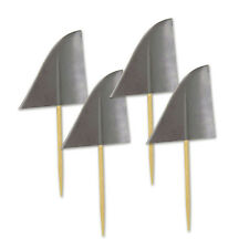 """Beistle 60024 Shark Fin Toothpicks, 2.5"""", Gray, 50 Picks In Package Party Decor"""