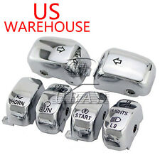 Chrome Hand Control Switch Housing Cap FOR Harley XL XR Dyna Road King 96-13 US
