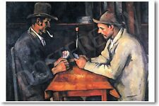 The Card Players - 1895 - Paul Cezanne - NEW Famous French Fine Art POSTER