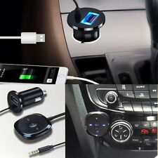 USB Bluetooth 3.5mm AUX Audio Stereo Music Home Car Receiver Adapter Handsfree