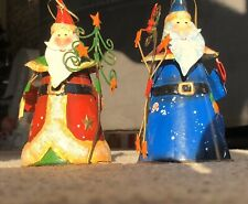 Vintage Christmas Tree Decorations / Ornaments. Two Santa's Wizards