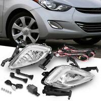 Fog Lamp Garnish Molding Trim Black Matte for 11-13 Hyundai Elantra w//Tracking