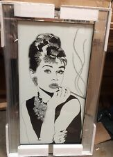 Audrey Hepburn on Mirrored Frame Wall Mirror 100x60cm Home Decor