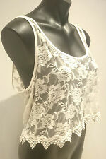 Unbranded Lace Floral Crop Tops for Women