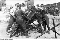 Warsaw Uprising-Stellungswerfer Regiment Bombing Old Town-1944 Photo