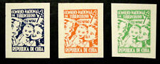 1954, Latin America, Tb Charity Seals, Mother, Child & Father, 3 Seals, Mnh