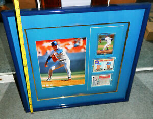 "VINTAGE One Of A Kind NOLAN RYAN PLAQUE with ROOKIE CARD FRAMED 19"" by 20"""