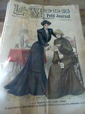 ANCIENNE REVUE LA MODE DU PETIT JOURNAL AVEC PATRON CORSAGE VESTE N°52 1901
