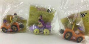 Wacky Racers Nascar Burger King Toys Vintage 90s 3pc Lot Dino Magilla Gorilla