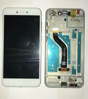 VETRO DISPLAY LCD TOUCH SCREEN + FRAME PER HUAWEI ASCEND P8 LITE 2017 BIANCO GLS