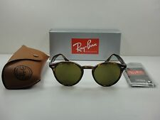 RAY-BAN ROUND SUNGLASSES RB2180 710/73 TORTOISE FRAME/BROWN LENS 51MM, NEW!