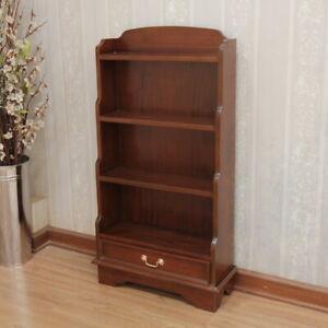 1 Drawer Small Open Bookcase  60x22x110cm WAX Polished,Mahogany,FREE DEL.