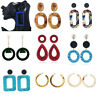 Women Earrings Round Square Dangle Ear Studs Geometry Drop Earring Fashion Gifts