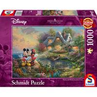 Schmidt Spiele Puzzle Disney Sweethearts Mickey & Minnie Thomas Kinkade 1000 T.