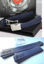 Genuine Oris 7733 Aquis Date Ø 45.5mm BLUE Rubber Band Strap Bracelet 42465