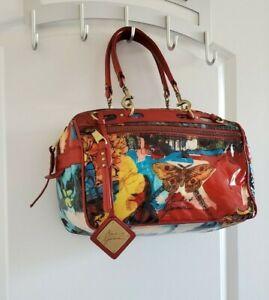 BADGLEY MISCHKA Graphiti Vegan Leather Travel Satchel Bag