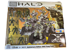 Halo Mega Bloks 96970 Anniversary Collector Series Edition UNSC Troop Pack NEW