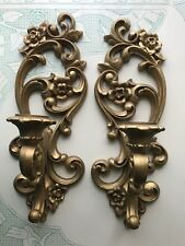 Hollywood Regal Gold Sconces Homco 4118
