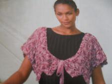 Girls/Ladies Gorgeous Shimmering Shrug Knitting Pattern sz 10-24