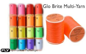 Glo Brite Multi-Yarn In 16 Colours Body/Winging/Post Material