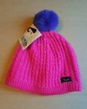 Dare2B Womens/Ladies Glint Beanie Bobble Hat - Cyber Pink
