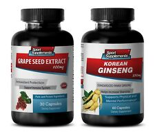 energy boost essential oil - GRAPE SEED EXTRACT - KOREAN GINSENG COMBO 2B - grap