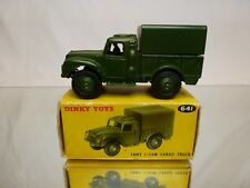 DINKY TOYS 641 ARMY 1-TON CARGO TRUCK - MILITARY GREEN 1:43?- EXCELLENT IN BOX