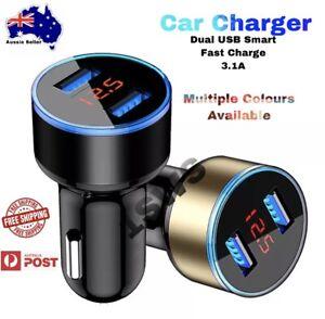12v-24v Dual USB Fast Car Charger 2 Port Display Cigarette Lighter Socket