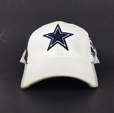 Dallas Cowboys Star Logo White Baseball Cap Hat Adj. Men's Size Cotton