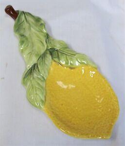 Vintage Lemon Tree By Josef Spoon Rest Hand Painted
